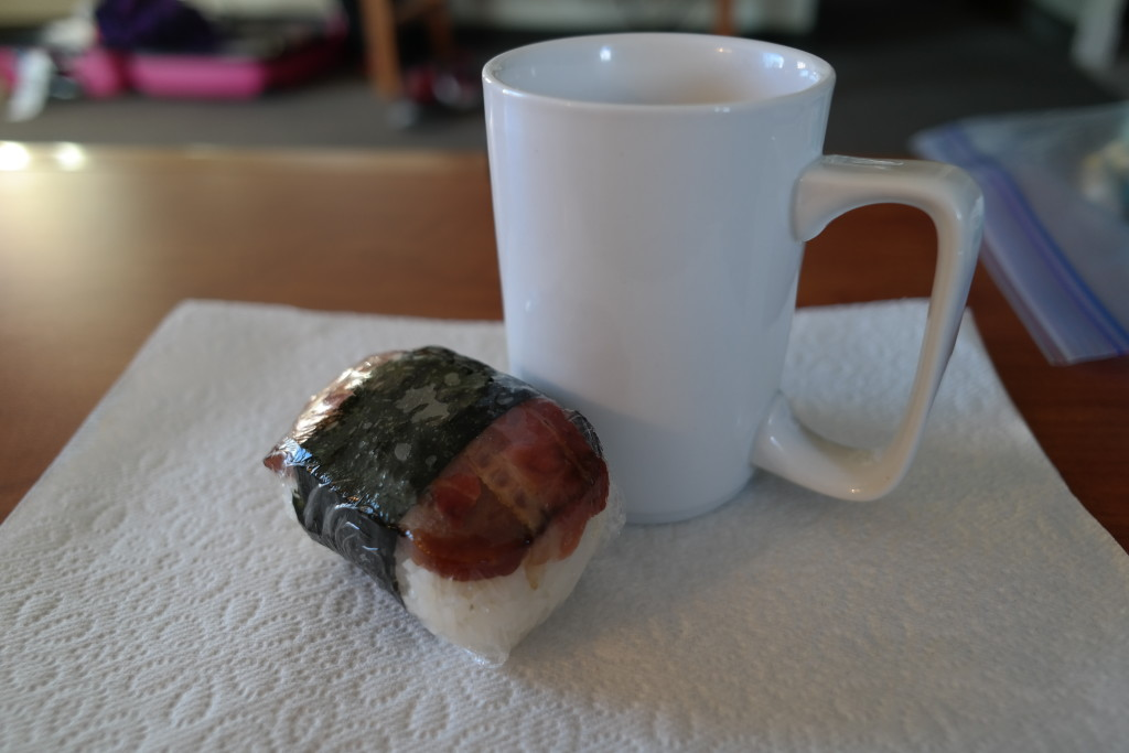 Musubi and Coffee