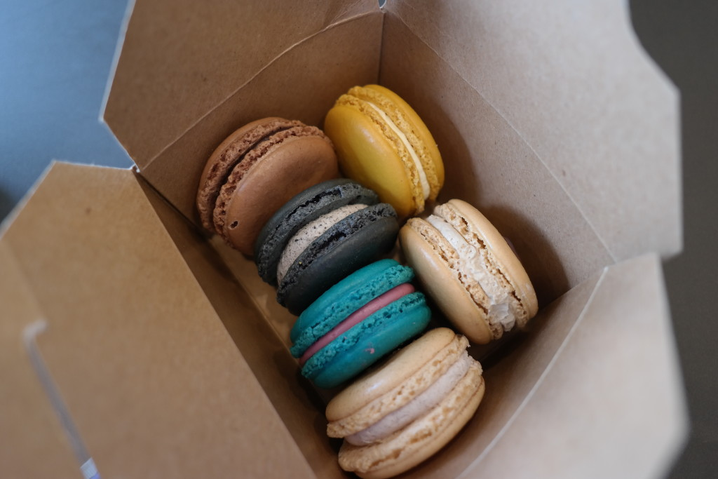 The macaroons here are better than the ones we had in Paris. I shit you not!